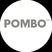 POMBO logo PANTONE prata